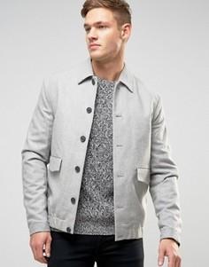 Светло-бежевая куртка Харрингтон с отложным воротником New Look - Stone