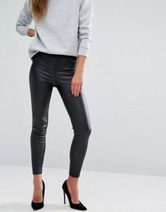 Джинсы скинни с покрытием New Look - Черный