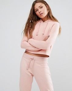 Стеганый джемпер с капюшоном New Look - Розовый