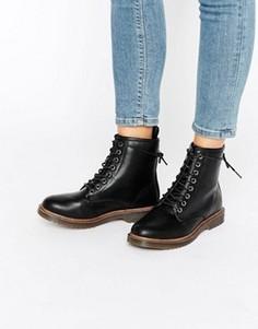 Байкерские ботинки на шнуровке New Look - Черный