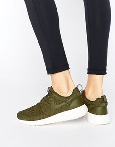 Кроссовки цвета хаки Nike Roshe Premium - Зеленый