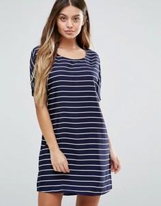 Цельнокройное платье в полоску Vila - Синий
