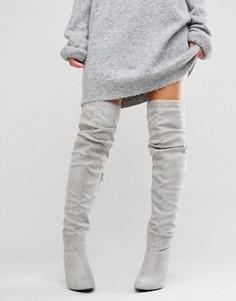 Сапоги-ботфорты New Look - Серый