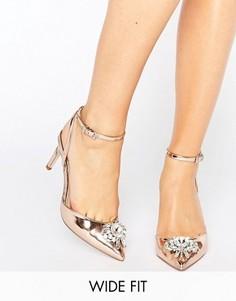 Туфли на каблуке для широкой стопы ASOS SOCIETY - Бежевый