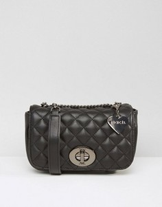 Маленькая стеганая сумка через плечо Marc B - Черный