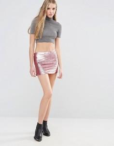 Мини-юбка с пайетками Glamorous - Розовый