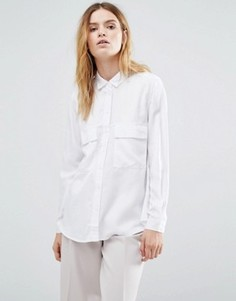 Рубашка в стиле милитари из лиоцелла Tencel от Native Youth - Белый