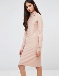 Вязаное платье со сборками по бокам Re:Dream - Розовый Redream
