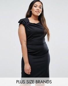 Платье-футляр с отделкой в виде банта Goddiva Plus - Черный