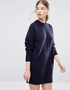 Темно-синее платье-джемпер Wood Wood Rosa - Темно-синий