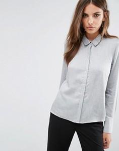 Рубашка с длинными рукавами Y.A.S Sina - Серый