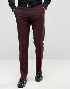 Бордовые зауженные брюки ASOS - Фиолетовый
