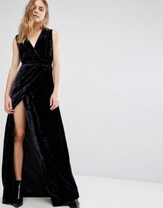 Бархатное платье макси Gestuz - Синий