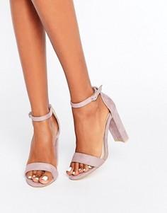 Легкие лиловые босоножки на блочном каблуке Glamorous - Фиолетовый