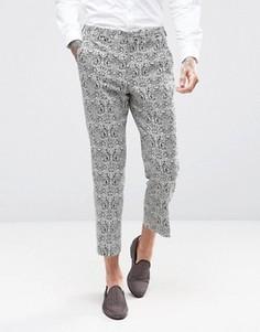 Укороченные жаккардовые брюки слим ASOS - Мульти