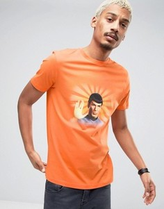Футболка с принтом в винтажном стиле ASOS Star Trek - Оранжевый