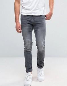 Светло-серые классические джинсы Jack and Jones - Серый
