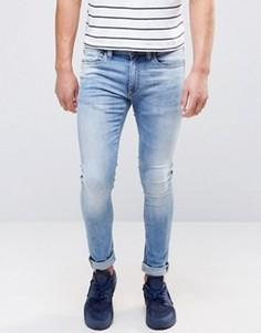 Светлые джинсы классического кроя Jack and Jones - Синий