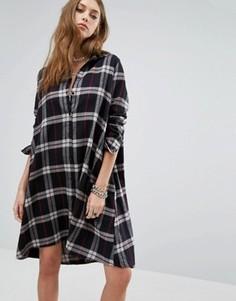 Платье-рубашка в стиле oversize Noisy May Erik - Мульти
