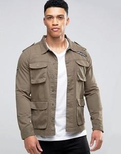 Куртка с нашивками Brave Soul - Зеленый