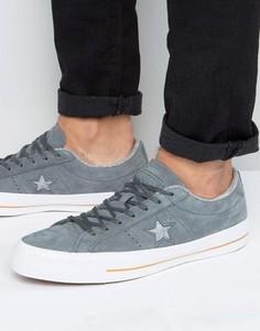 Серые кроссовки One Star Converse 153719C - Серый
