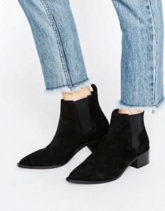 Черные замшевые ботинки челси Office Agave - Черный