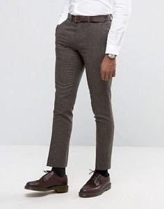Узкие коричневые брюки Rudie - Коричневый