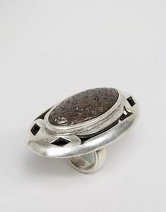 Посеребренное кольцо с камнем Low Luv - Серебряный