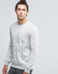 Меланжевый свитер с круглым вырезом Threadbare - Бежевый