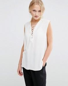Рубашка с завязкой Just Female Trine - Белый