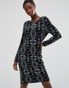 Платье со стразами b.Young - Черный