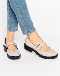 Туфли на плоской подошве ASOS MENDOZA - Серый