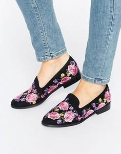 Туфли на плоской подошве с вышивкой ASOS MUSICAL - Черный
