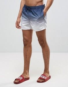 Короткие шорты для плавания с эффектом деграде ASOS - Темно-синий