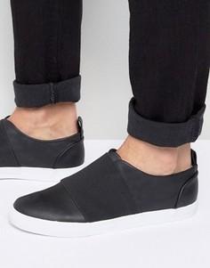 Черные кроссовки с эластичными ремешками ASOS - Черный