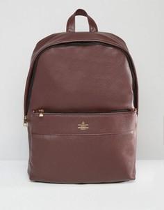 Бордовый рюкзак с золотистым тиснением ASOS - Красный