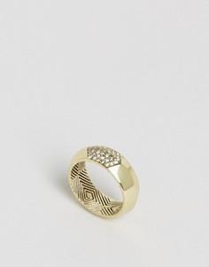 Кольцо с отделкой паве House of Harlow - Золотой