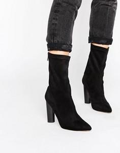Ботильоны на каблуке с острым носком Public Desire Cayden - Черный