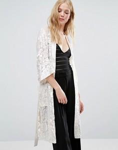 Пиджак макси в стиле кимоно Gestuz Missy - Кремовый
