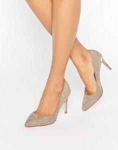 Туфли-лодочки с острым носком и металлической отделкой Faith - Серый