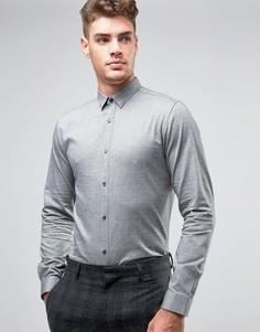 Узкая рубашка с начесом Jack & Jones Premium - Серый
