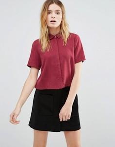 Укороченная рубашка из лиоцелла Native Youth - Красный