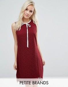 Кружевное платье мини с бантом спереди Vero Moda - Красный