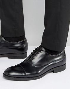 Кожаные оксфордские туфли Selected - Черный