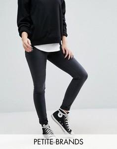 Зауженные джинсы с высокой талией Vero Moda Petite - Серый