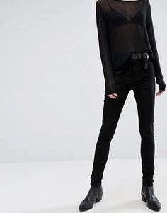 Бархатные джинсы с классической талией Dr Denim Plenty - Черный