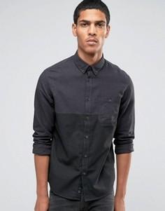 Рубашка с длинными рукавами и контрастным дизайном Celio - Черный