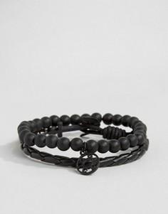 Черные браслеты Icon Brand Silverball - Черный