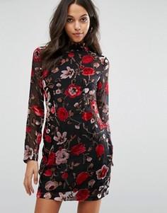 Облегающее платье мини с цветочным принтом Missguided - Мульти