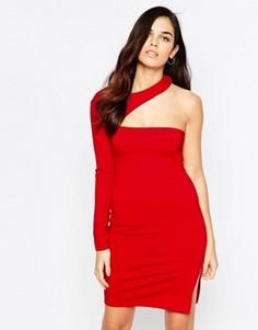 Асимметричное платье мини Twin Sister - Красный